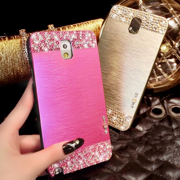 Luxury Handmade Bling Rhinestone Crystal Diamond Ultra Thin Aluminum Metal Brush Hard Case Cover For ASUS Zenfone 4 5 6 Shell(China (Mainland))