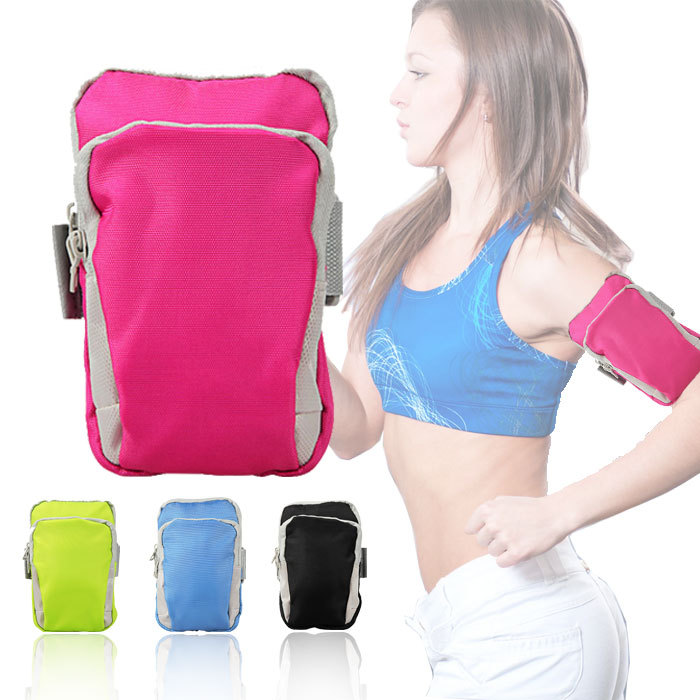 Outdoor Sports Bag Wrist Arm Gym Bags For Women And Man Travel Fitness Mobile Phone Cases Key Package Four Colors(China (Mainland))