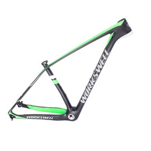 Buy 2016 workswell brand green painting design full carbon mountain bike frame 142*12mm 135*9mm exchange carbon MTB frame 29 for $399.00 in AliExpress store