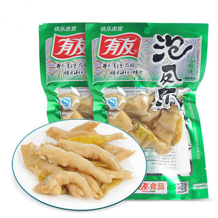 Гаджет  5pcsx100g Chinese food chicken feet with Pickled Peppers Vacuum-packed China specialty snacks zero food wholesale Free Shipping None Еда