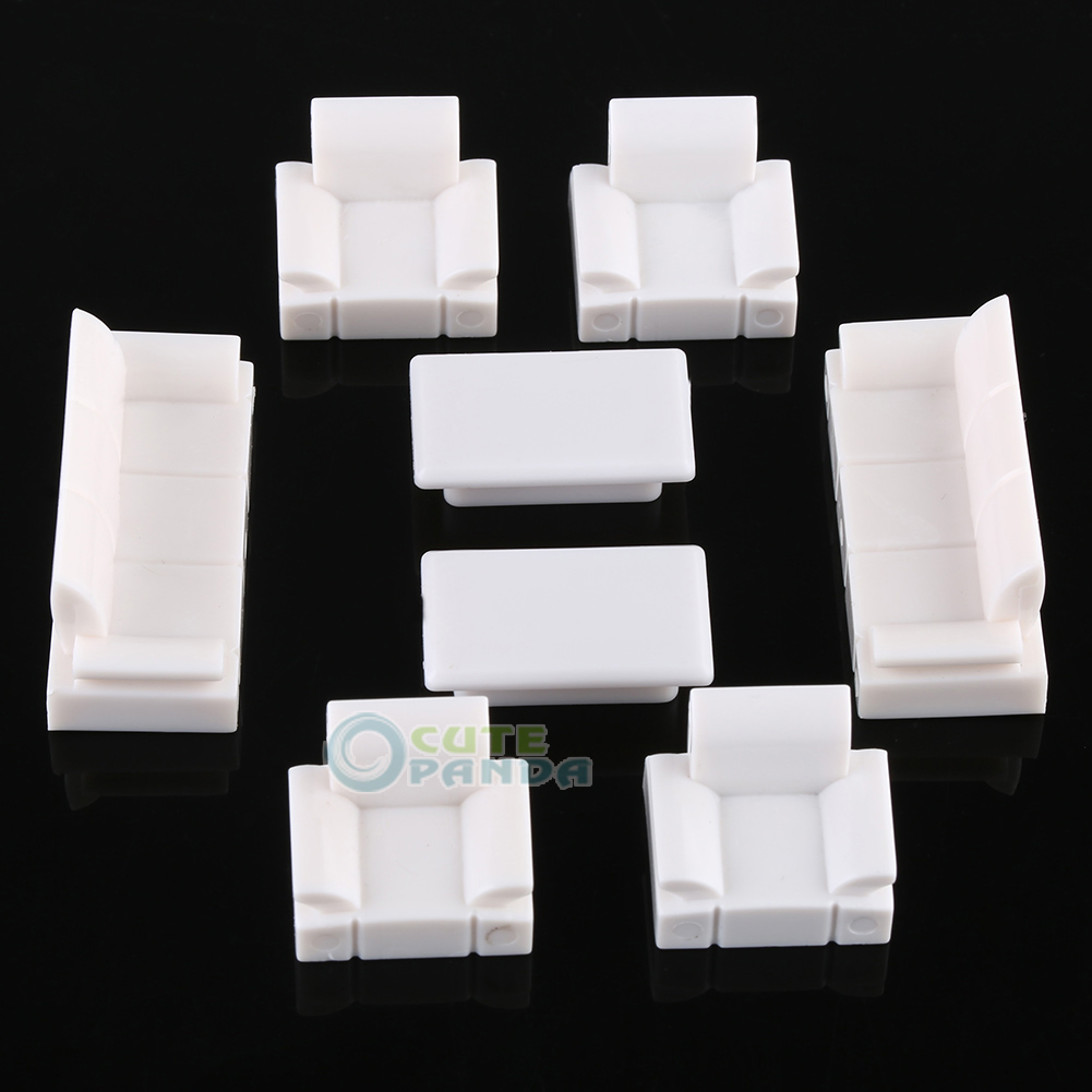 Kid's Doll House Art Craft Model Sofa Set 1/50 O Scale Building Model Kit Sand Table Free Shipping(China (Mainland))