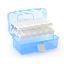33X20X15cm Large 3 Layer Plastic Nail Box Case for Manicure Tools Nail Salon Equipment the Barber Equipment the Nail Tools(China (Mainland))