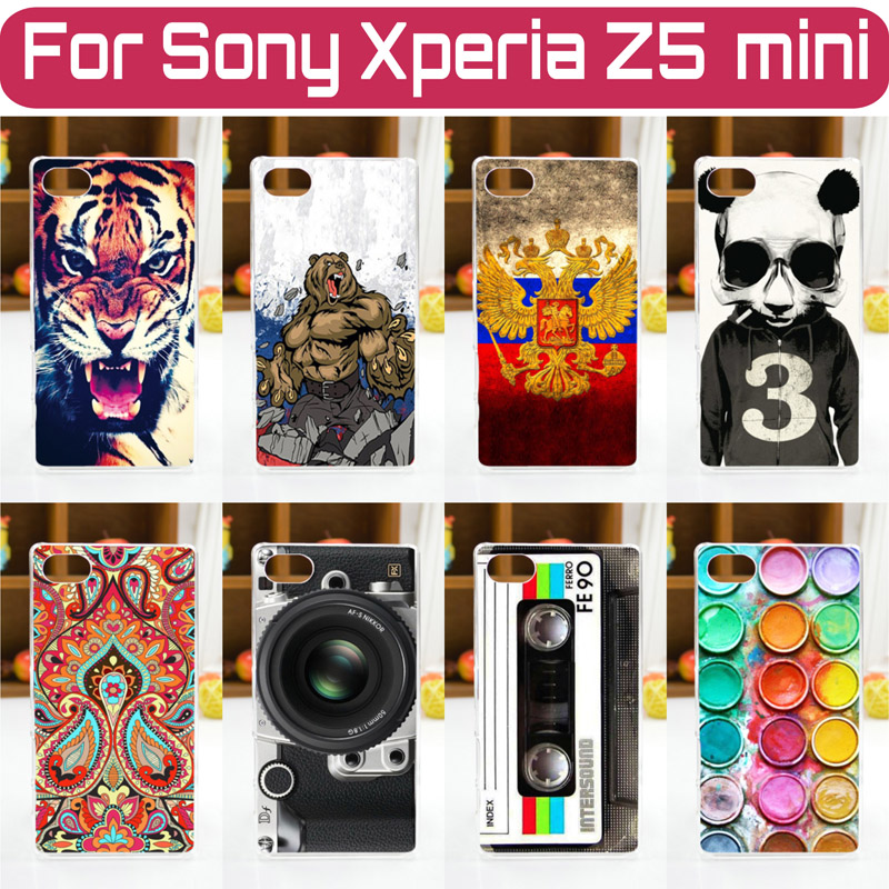 HOT! 20 Patterns Colored Painting Cover Case FOR Sony Xperia Z5 Compact Z5 Mini,Case Cover FOR Sony Xperia Z5 Compact Phone Case