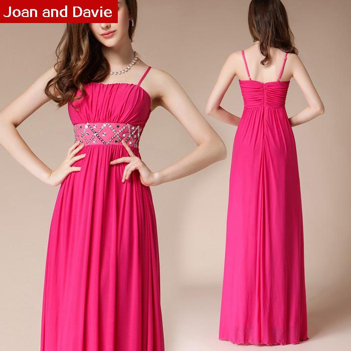 Spring summer 2015 new fashion women floor length spaghetti strap slim Formal Evening Dresses rosiness - Joan and Davie store