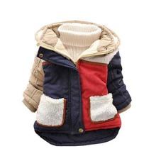 Hot 2015!  Neonati maschi caldo cappotto del rivestimento: bambino ragazzi casual neve usura con cappuccio giù nuovo bambino inverno antivento a strisce di spessore outwear(China (Mainland))