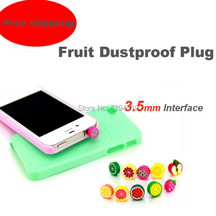 2014 Universal Static-free Silicone Dustproof 3.5MM Fruit Earphone Jack Plug Stopple For Mobile Cell Phones MP3/4 Free Shipping(China (Mainland))