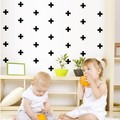 Amazing  Ins Hot Sale pcs Black Cross Vinyl Wall Stickers Removable DIY Wall Stickers For Kids Room Nursery Baby Wall Decals Mural JUSD piece