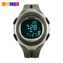 2015 Skmei marca hombre LED Digital exterior los deportes reloj de buceo de temperatura del ejército militar multifunción reloj Relogio