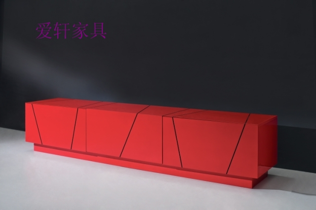 Unique brief fashion tv cabinet red cabinet ceremonized furniture cabinet