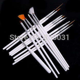 15ps/lot Nail painted pen Complete Brush Set beauty white dotting pens nails art tool dots tools - Fine living, start here store