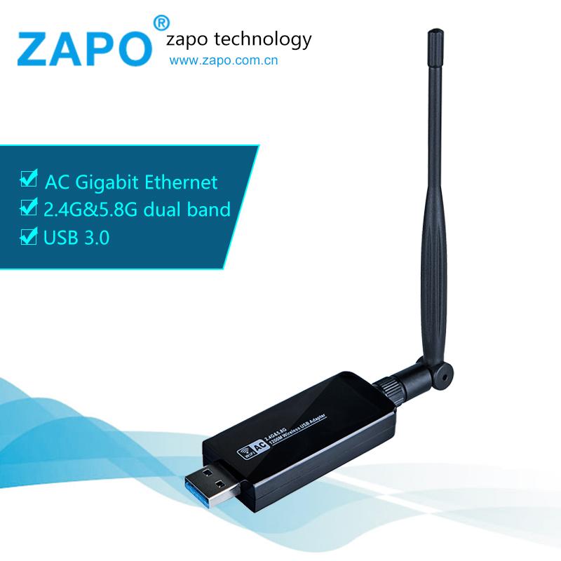 ZAPO In stock! Wifi Usb 1200Mbps USB Wireless adapter wireless Network Card 3g modem WiFi adapter USB Wifi antenna wifi card(China (Mainland))