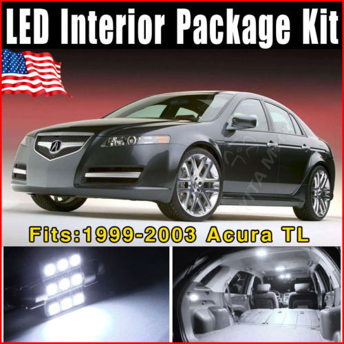 Wholesale Price Car Styling led Lights 10pcs Super White LED Lights Interior Package Combo Deal for Acura TL 1999-2003 Lamp Bulb(China (Mainland))