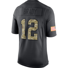 Men's New Brady embroidery Logos Gronkowski Julian Edelman Anthracite 2016 Salute to Service Black Color jersey Free Shipping(China (Mainland))