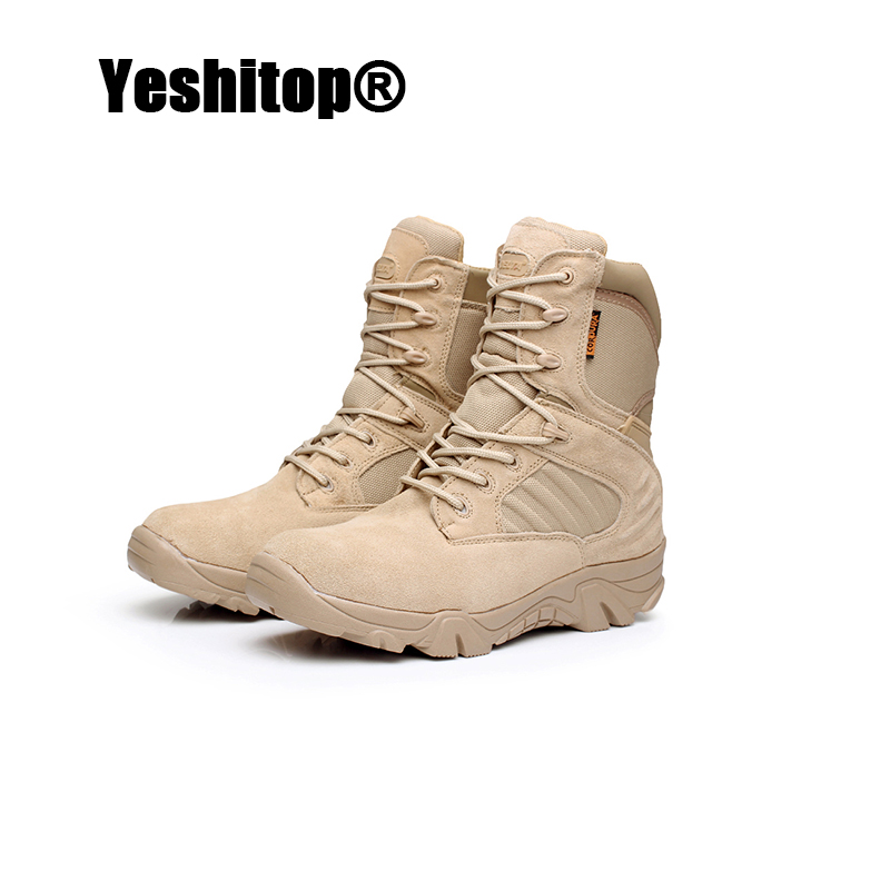 EUR 39-43 Man Desert Shoes Fashion Cow Split Winter Warm Army Boots Anti-Slip Rubber Sole Male Boots Hiking Shoes Men Outdoor(China (Mainland))