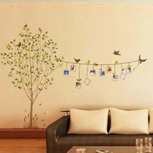 Buy 120 * 86cm 3D DIY Photo Tree Wall Stickers Removable Adhesive Vinyl Mural Art Wall Decals home Living Bedroom Decor for $4.38 in AliExpress store