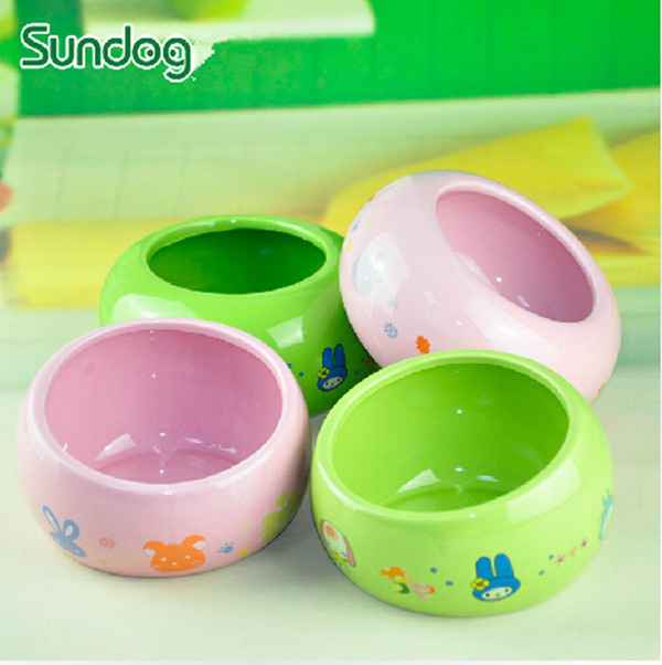 Free Shipping Green And Pink Cartoon Print Round Rabbit