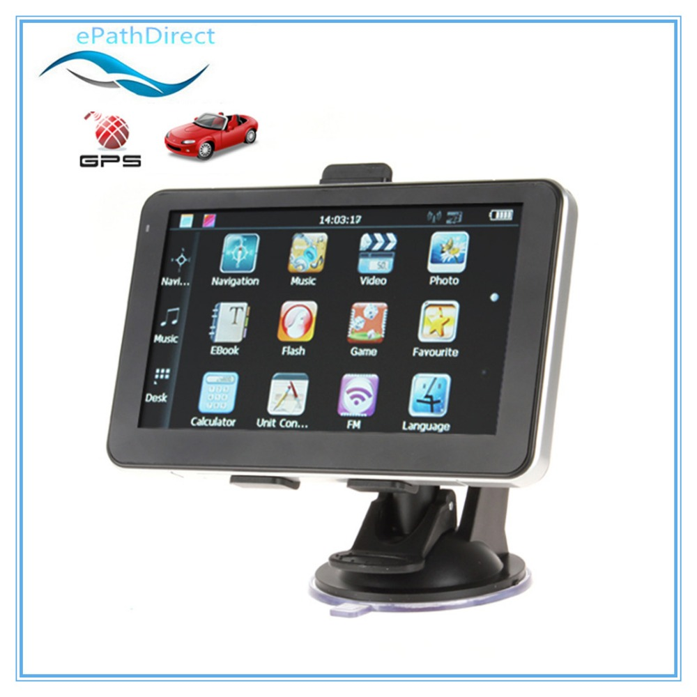 5 Inch High-Sensitivity Portable Auto Car GPS Navigation Navigator System Support MP3 MP4 FM Built in 4GB Memory<br><br>Aliexpress