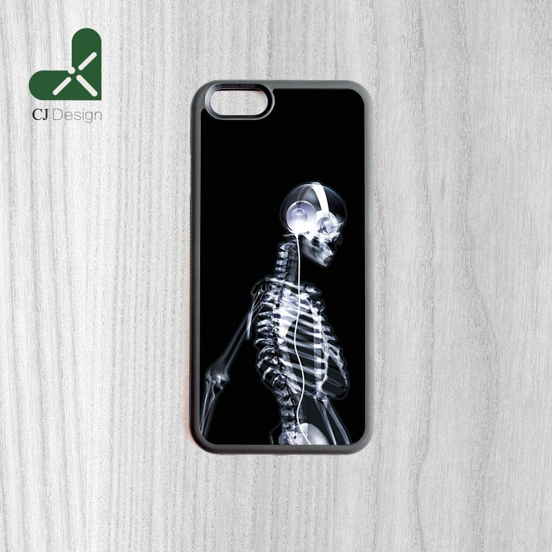Hot models Xray music Pattern Custom Made Durable Back Mobile Protection Case Cover For iPhone 6 6s And 4 4s 5 5s 5c 6 Plus(China (Mainland))