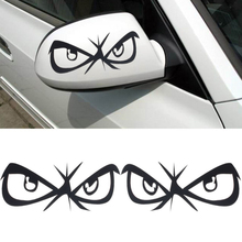 New Design  Fashion Eyes Design 3D Decoration Sticker For Car Side Mirror Rearview free shipping(China (Mainland))