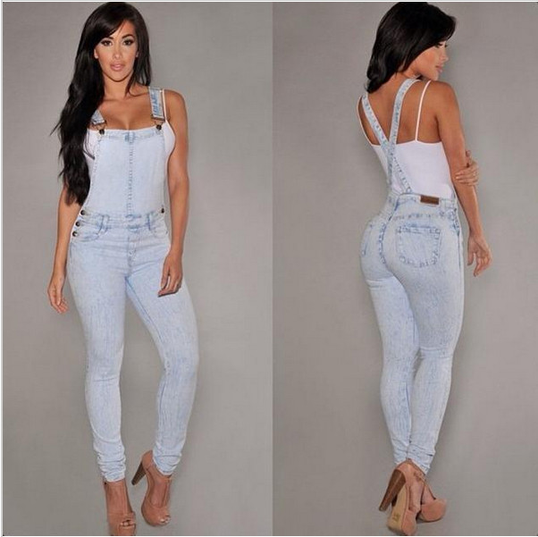 New Style Womens Romper Denim Jumpsuit Sexy Blue Jean Sleeveless Jumpsuit Bodysuit Female Casual denim Jumpsuit overallsACO2669Одежда и ак�е��уары<br><br><br>Aliexpress