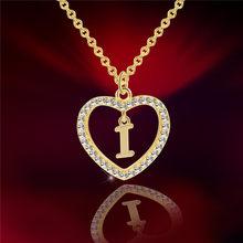 LOULEUR A To Z 26 ожерелья с буквенным именем и кулон для женщин Девушка Мода длинная цепь сердце ожерелья кубический цирконий DIY ювелирные изделия(China)