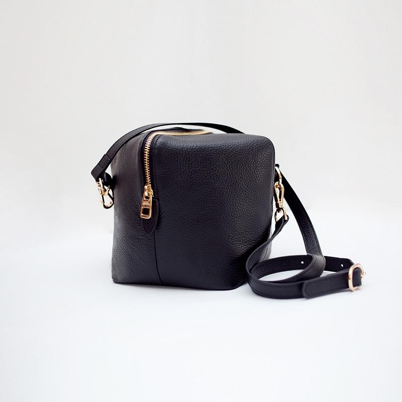 genuine leather Lady brief bucket bag large capacity cowhide cube Crossbody shoulder bag novelty women handbag<br><br>Aliexpress