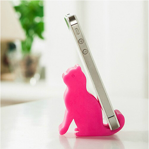 Cute Cat Multifunctional Mobile Phone Stand Cellphone Holder Dog Pad Support Elephant Phone Support Whale Free Shipping(China (Mainland))