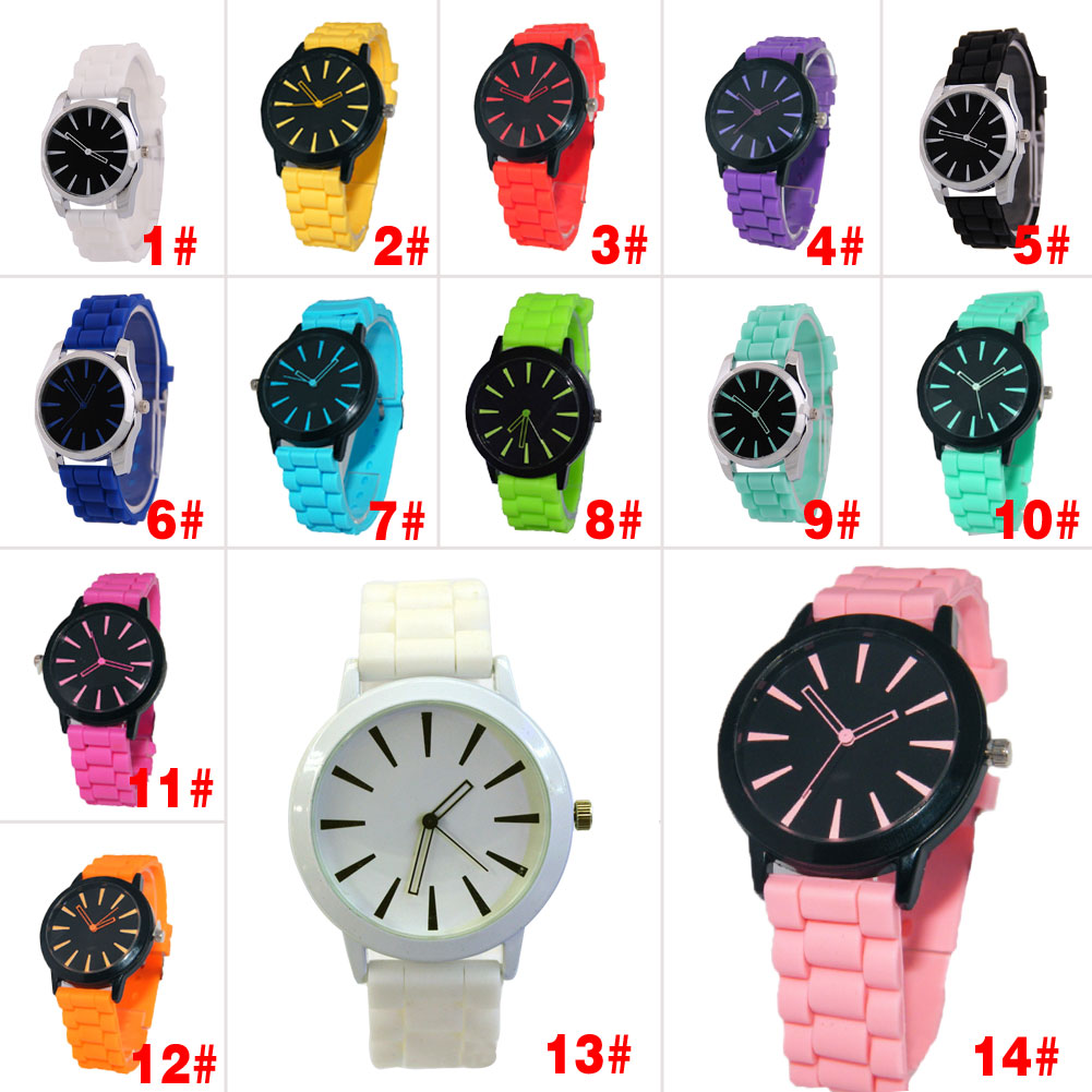 14 Colors Women's Candy Color Silicone Watch Hollow Out Pointer Lady's Quartz Wrist Watches Gift HB88(China (Mainland))