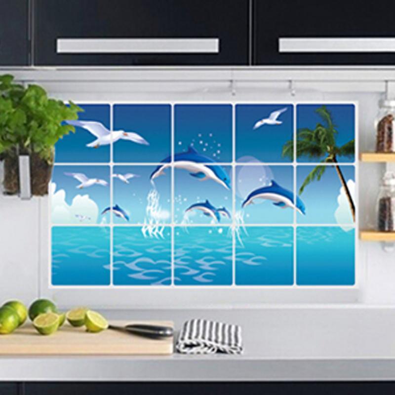 Carreaux de mur papier promotion achetez des carreaux de - Carreaux autocollants cuisine ...