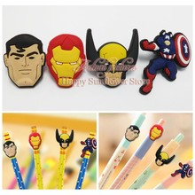 4PCS The Avengers Action Figures PVC Pencil Topper Pen refill School Supplies Kids Birthday Party Gifts