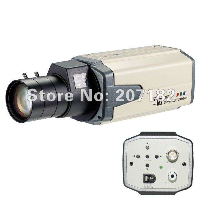 """Premium Resolution 1/3"""" SONY SUPER HAD CCD II 650TVL 0.001Lux Super-WDR/OSD/2D-DNR HLM CCTV Video Box Camera (Without Lens)(China (Mainland))"""
