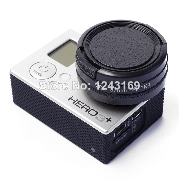 37mm CPL Filter Cap+Adapter+XCsource Cleaning Cloth For Gopro Hero3 3+ LF324(China (Mainland))
