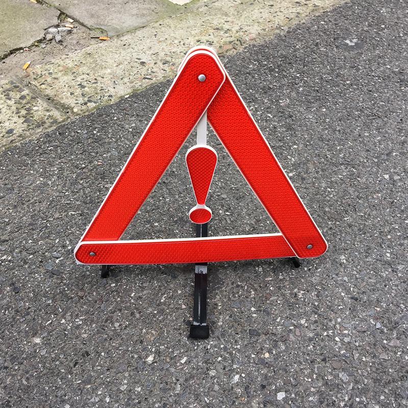 Складной дизайн автомобильных отражение предупреждение кадров