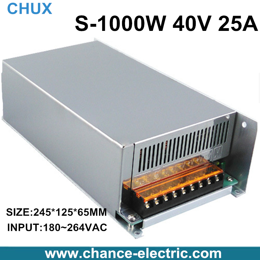 Фотография S-1000-40 25A high power AC to DC small size dc 40v power supply low price power supply 40v 1000w with ce certification