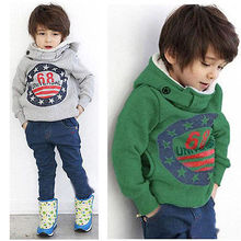 Baby Boys Kids' Thick Coat Tops Hoodies Jacket Sweater Outwear Pullover 2-7Y(China (Mainland))