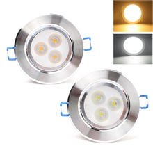 Dimmable Recessed Ceiling Downlight 3 LED Spot SMD 3W Spot Bulb Lamp Light W/ Driver #70078(China (Mainland))