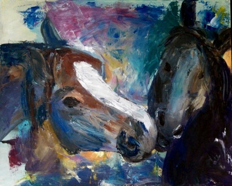 Horse Head Painting Horses Head Oil Painting