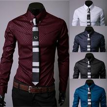 2015 Plus size brand men's social shirt slim fit long sleeve mens dress shirts desigual camisa social masculina chemise homme