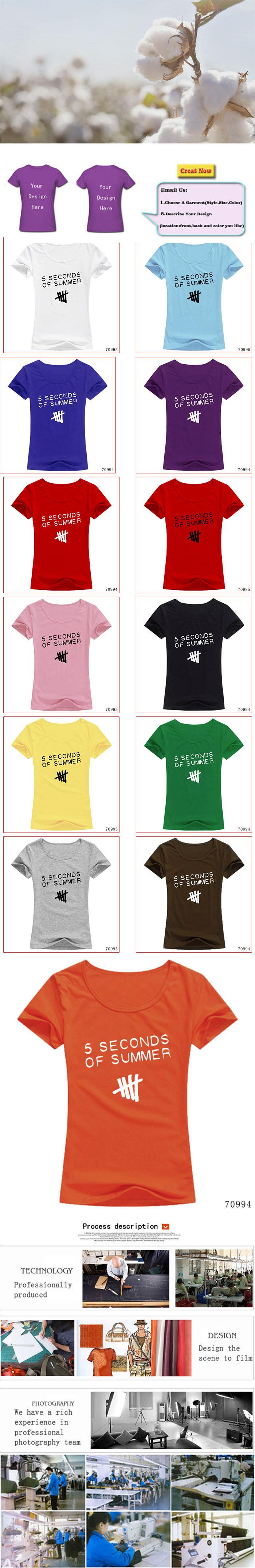 Евро размер 5 секунд пять t рубашки женщин 5sos женщина рубашки короткий рукав o шею женская тройники вершины лета одежда