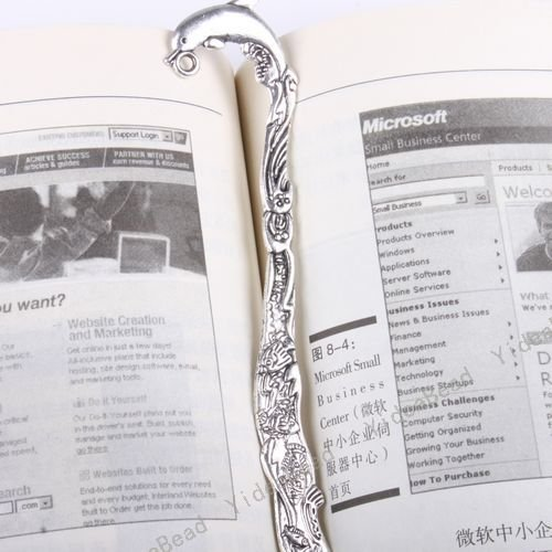 5x Dolphin Tibetan Silver Bookmarks With Loop Design Fit Jewelry Accessories 161006(China (Mainland))