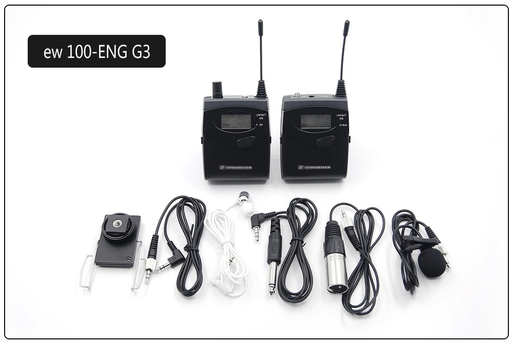 EW100 EW 100-ENG G3 mini receiver with bodypack Lavalier Wireless Portable Microphone Set for DV Video Camera Webcam Interview(China (Mainland))