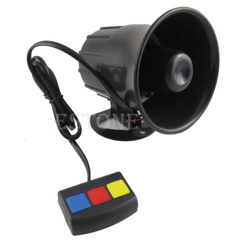 12V 3 Sounds PA System Loud Horn Amplifier Speaker for Car Truck Motorcycle(China (Mainland))