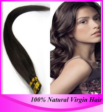 12″-24″ 100g/pack Prebonded Stick Tip Hair I Tip Keratin Hair Extensions 100% Real Hair #2 Large Stock
