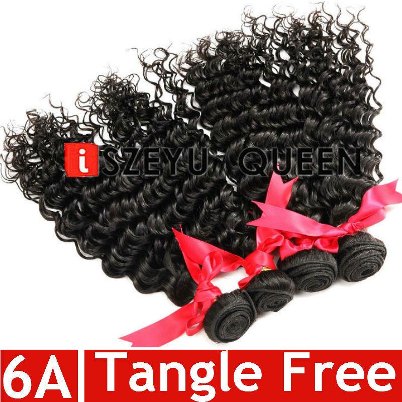 6A Virgin Malaysian Curly Hair Malaysian Deep Curly Virgin Hair Weave Human Hair Bundles Malaysian Deep Wave Curly Extensions(China (Mainland))