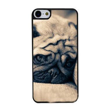 Sad Pug Close Animal custom design hard plastic mobile cell phone bags case cover for iphone 4 4s 5 5s 5c 6 plu(China (Mainland))
