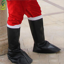 A Pair of Christmas Santa Claus shoes Leather boots Santa Claus boots 110g Christmas gift items for Men(China (Mainland))