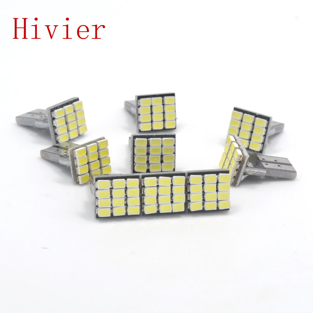 wholesale 10X T10 W5W Canbus White 3020 1206 12SMD Vehicle Tail Dashboard Lamp Car Auto Wedge Turn Signal Bulb 12Led DC 12V(China (Mainland))
