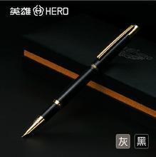 Buy 2017 Mb Fountain Pen 0.5mm Nib Hero Fountain Pen 285 Men Women Practice Calligraphy Writing Metal Iraurita Best Study Gift Grey for $20.16 in AliExpress store