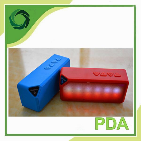 Mini water cube LED flash bluetooth Radio card small rubik's cube X3S double horn speaker(China (Mainland))