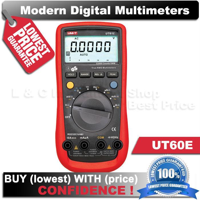 Гаджет  Free shipping UNI-T UT-61E Modern Digital Multimeters auto range true RMS Peak value UT61E AC DC Meter None Инструменты